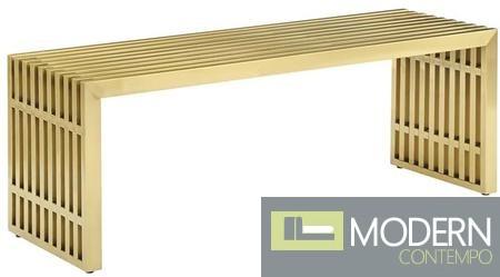 Agosto Medium Stainless Steel Bench GOLD