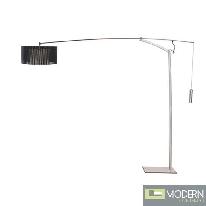 Ell Floor Lamp, Silver