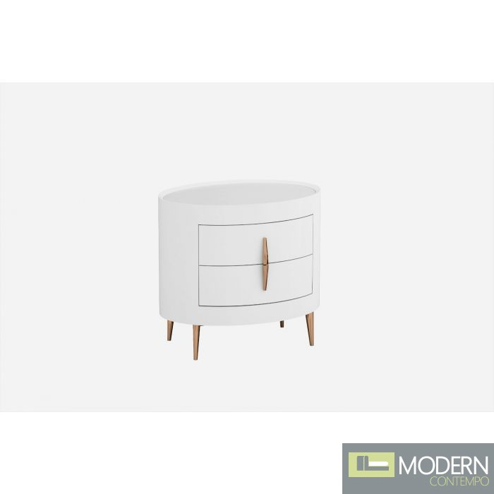 Eva Nightstand with Rose Gold Accents