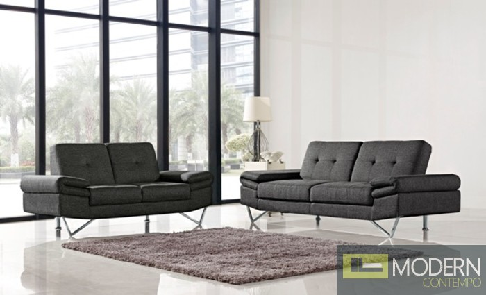 1373 Grey Sofa & Loveseat Set