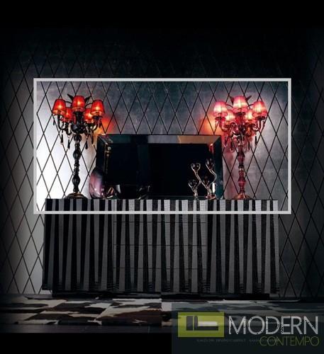 AA416-120 - Black Frame Mirror