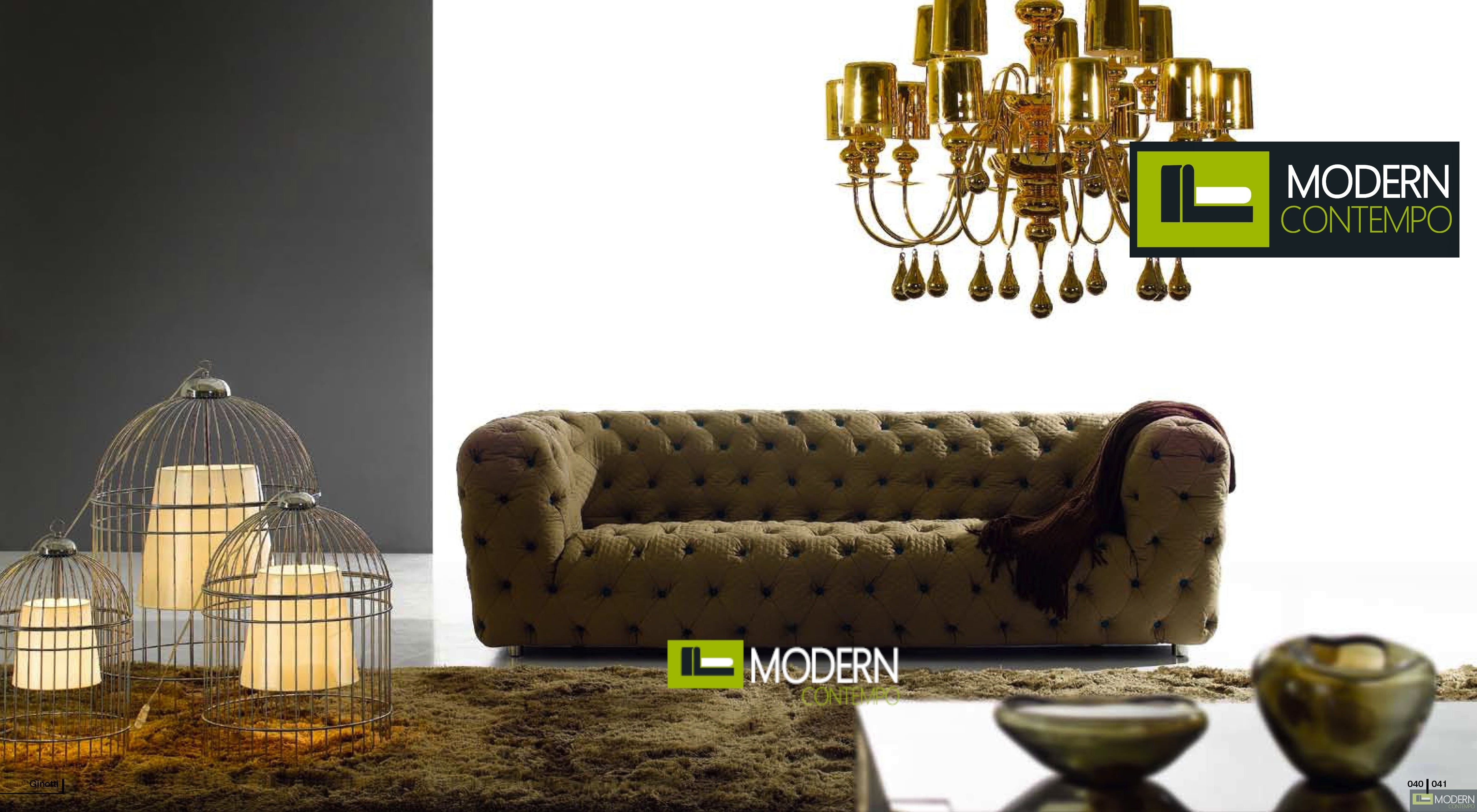 Transitional Tufted Fabric  Sofa by ZInotti MCZGPS1058