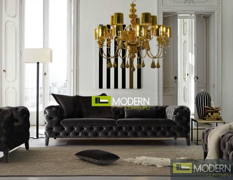 Transitional Tufted Fabric Sofa by ZInotti MCZGPS1063