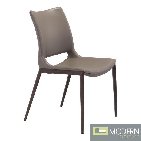 Arcadia Dining Chair grey and walnut