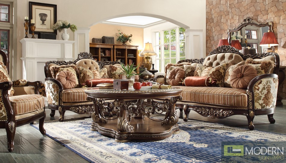 Luxury Sofa, Loveseat, and Chair 3 Piece Traditional Living Room Set ...