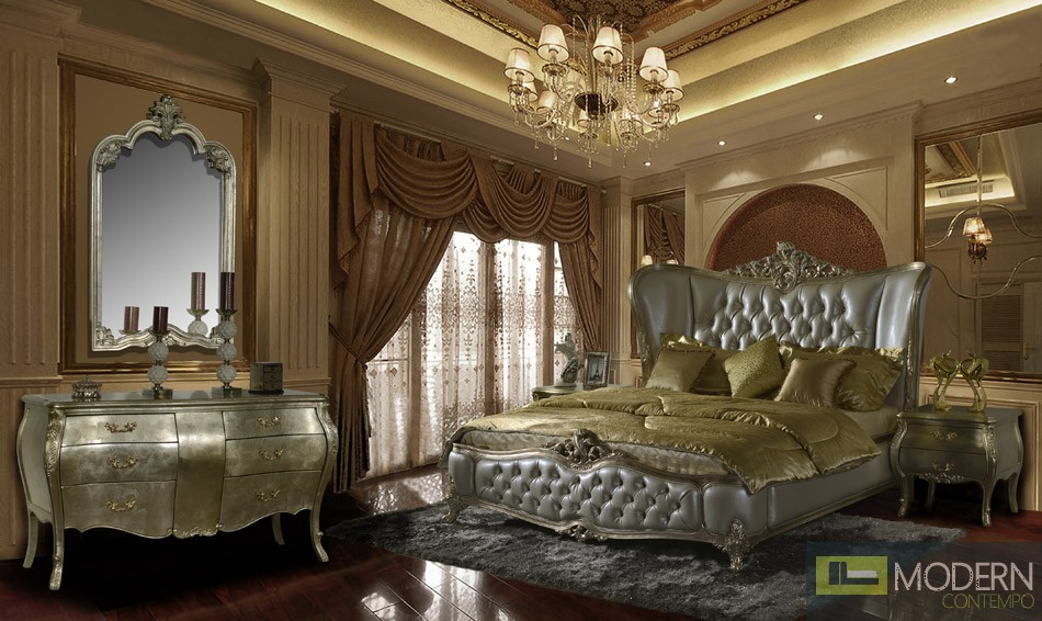 Evangelino Luxury European Style Bedroom Set-
