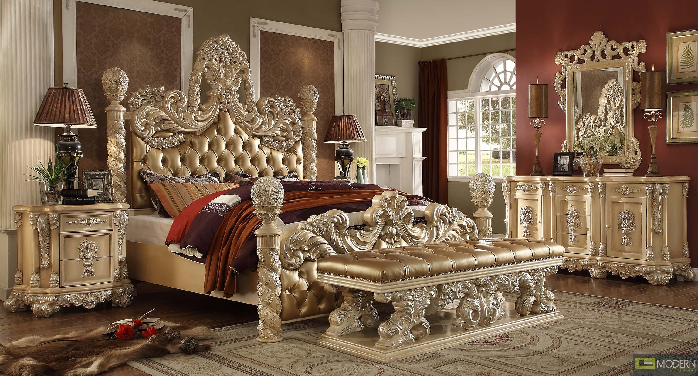 Nefertit European Style Luxury King Bed