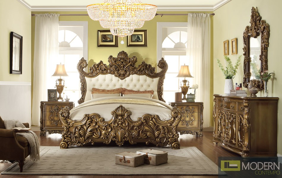 European Style Luxury Queen or King Bed MCHD-8008