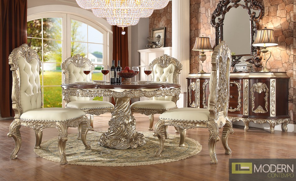 Victorian Style Dining table Set MCHD-8017 Round