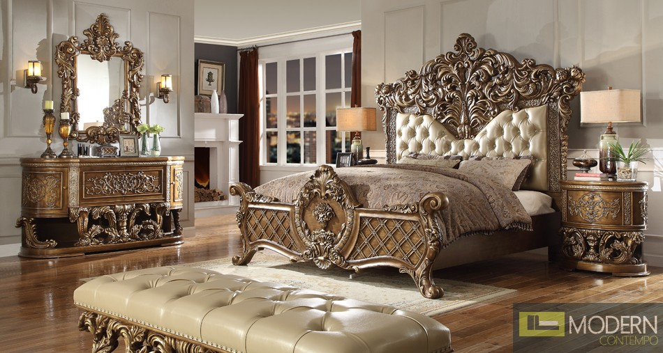 European Style Luxury Queen or King Bed MCHD-8018