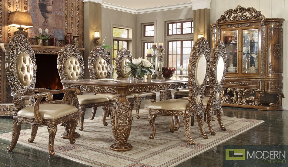 VICTORIAN STYLE DINING TABLE SET MCHD-8017RECTANGLE