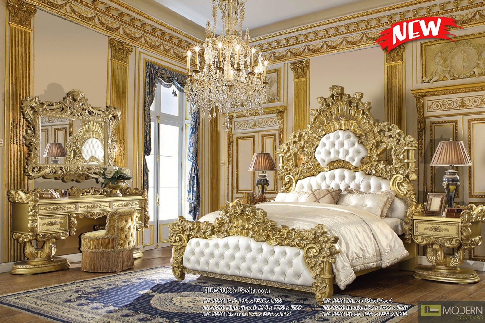 Basilica European Style Luxury King Bed