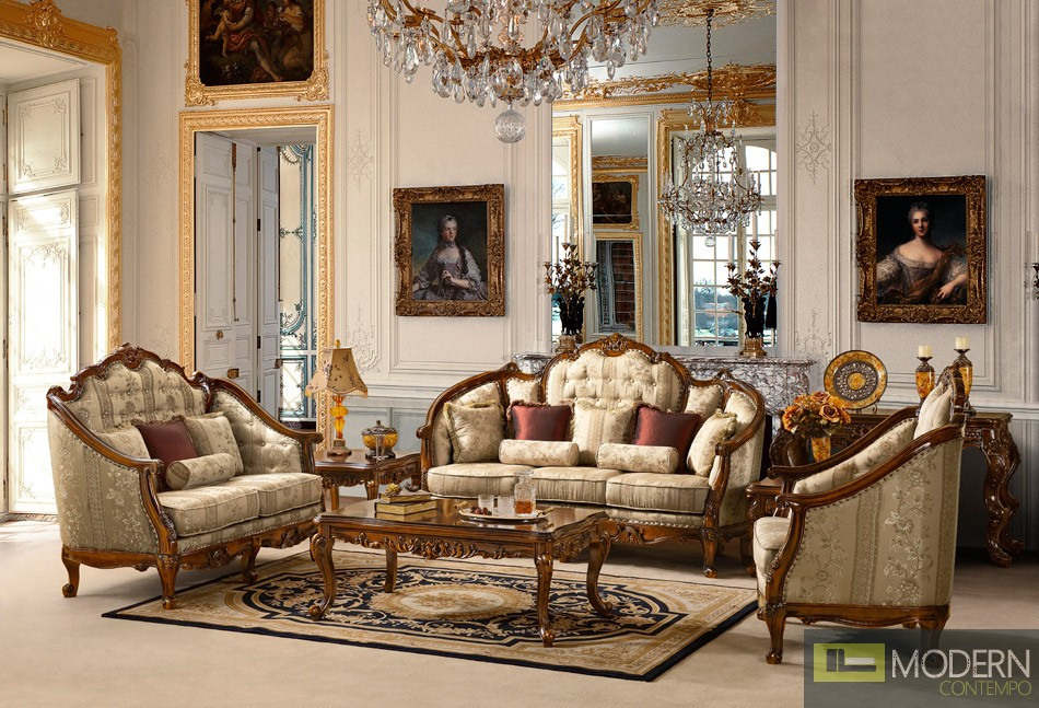 Traditional sofa sets living room traditional living room for Traditional living room furniture