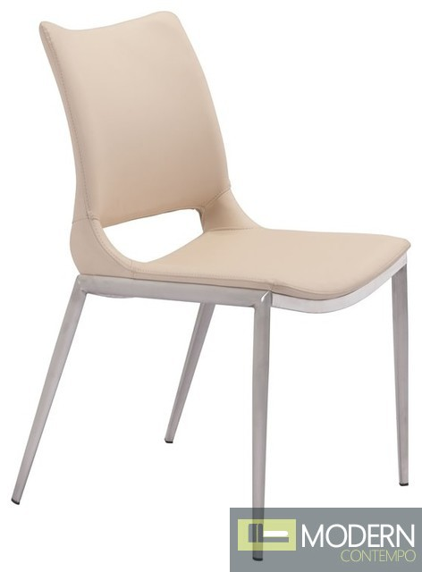 Arcadia Dining Chair Light Pink & Brushed Ss