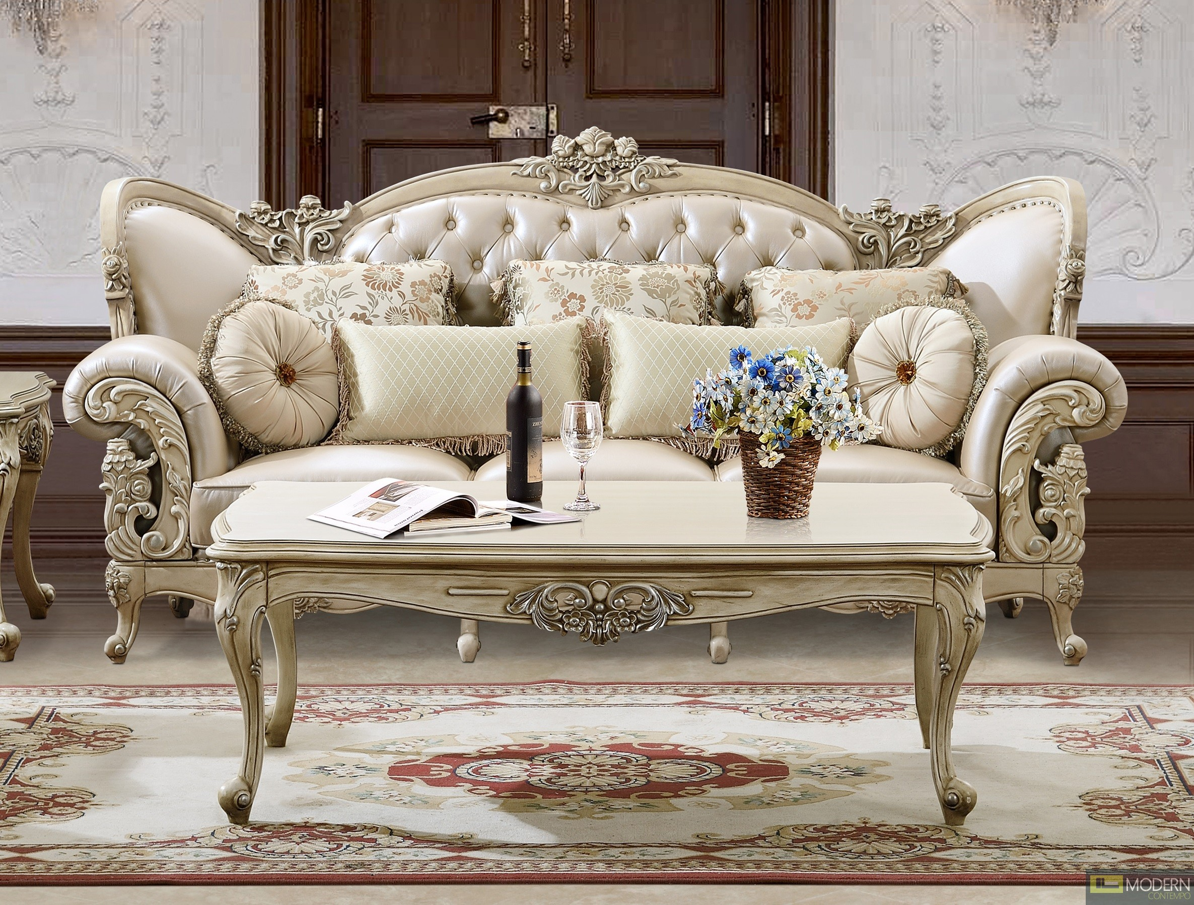 Azalea upholstery living room set Victorian European & Classic