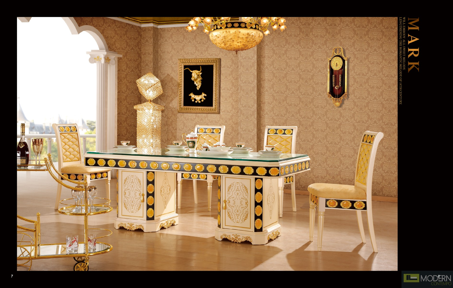 Althea 3pc Luxury Italian Style Living Room Set