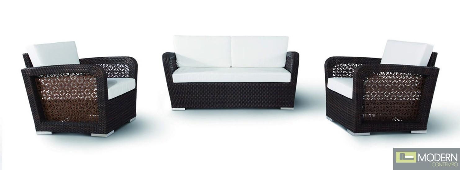 H0908 - 3 Pieces Modern Sofa Set