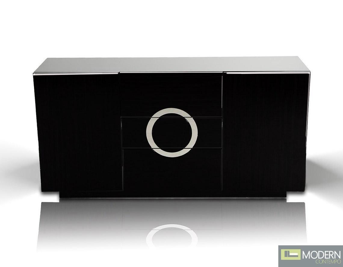 A&X Ovidius - Black Lacquer Modern Buffet