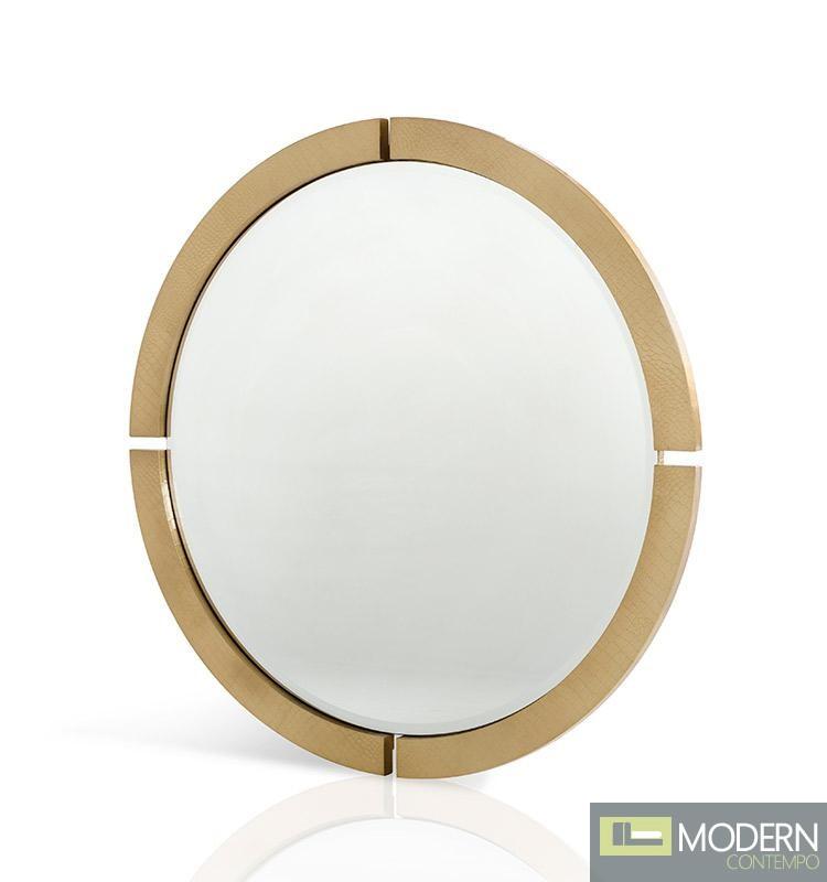 A&X Baron - Gold Round Mirror