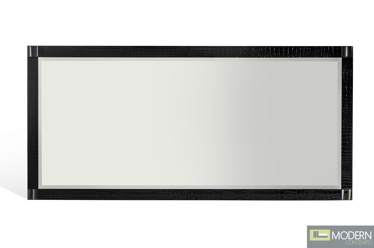 A&X Bellagio RC409-150 Black Crocodile Buffet Mirror