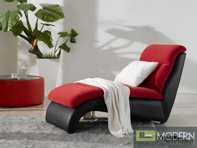 2910 - Magenta Fabric Chaise