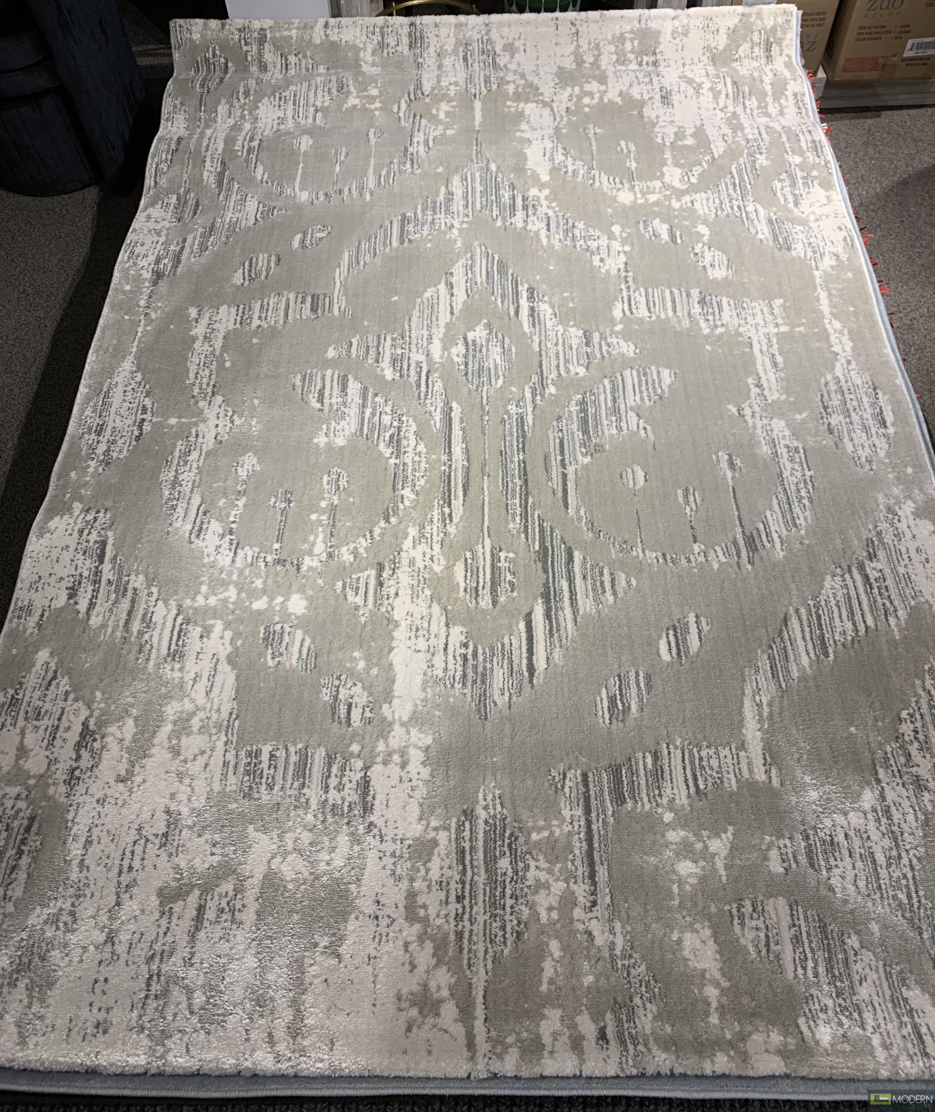 Roca  Grey and Light Grey Rug