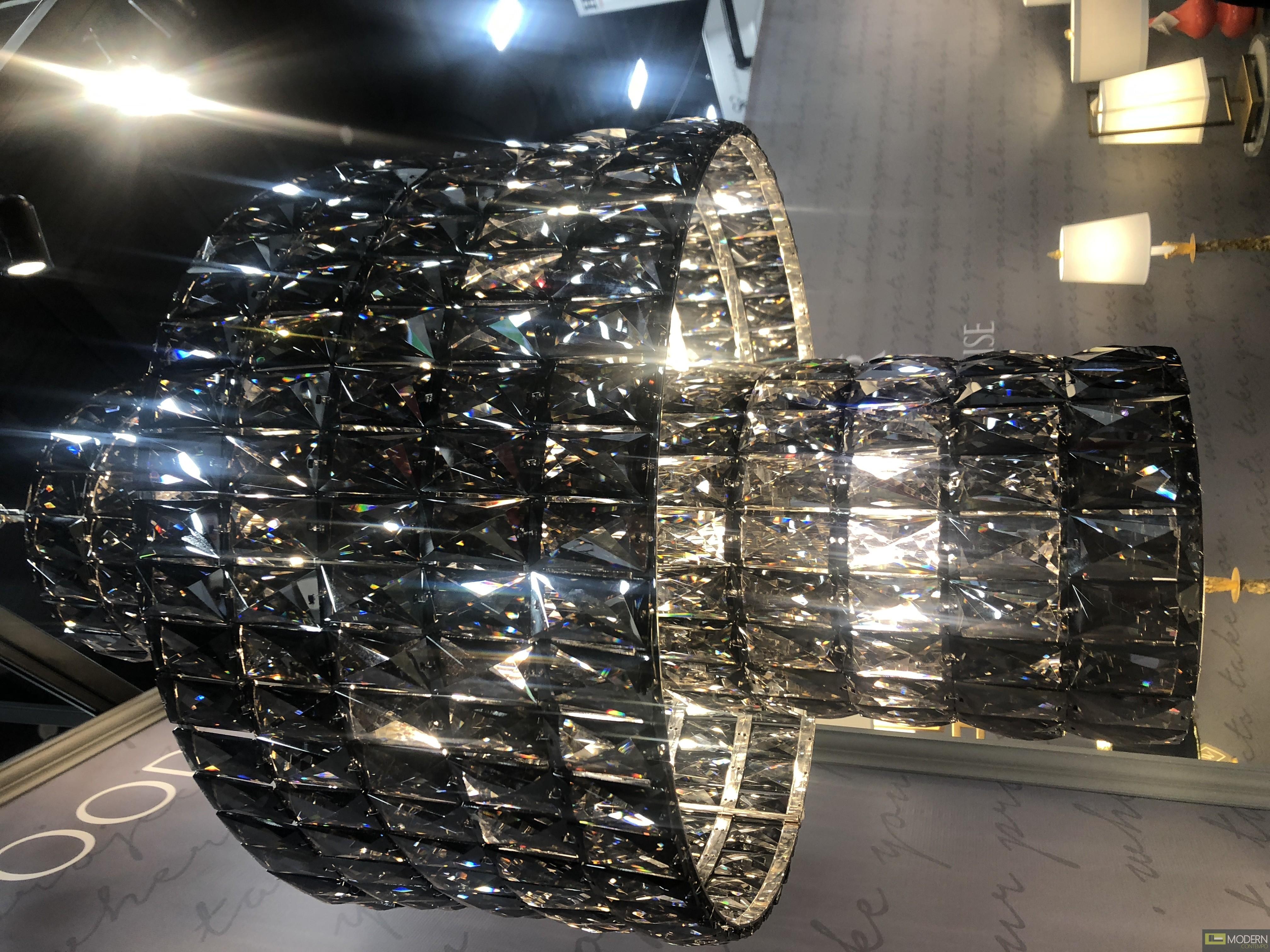 ASTRA LargeChandelier with Crystals BLACK
