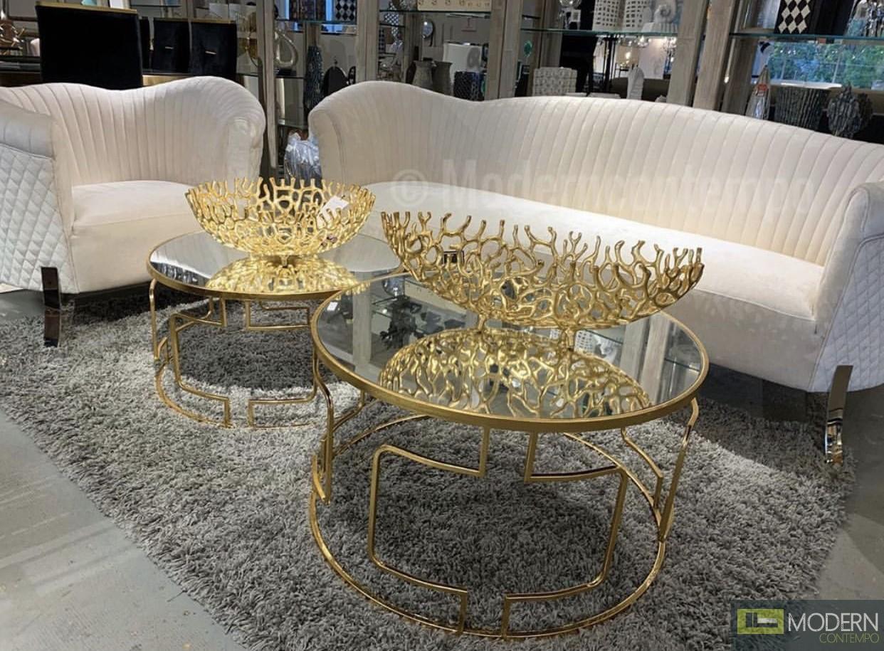 Aducci Set-2 Tables GOLD
