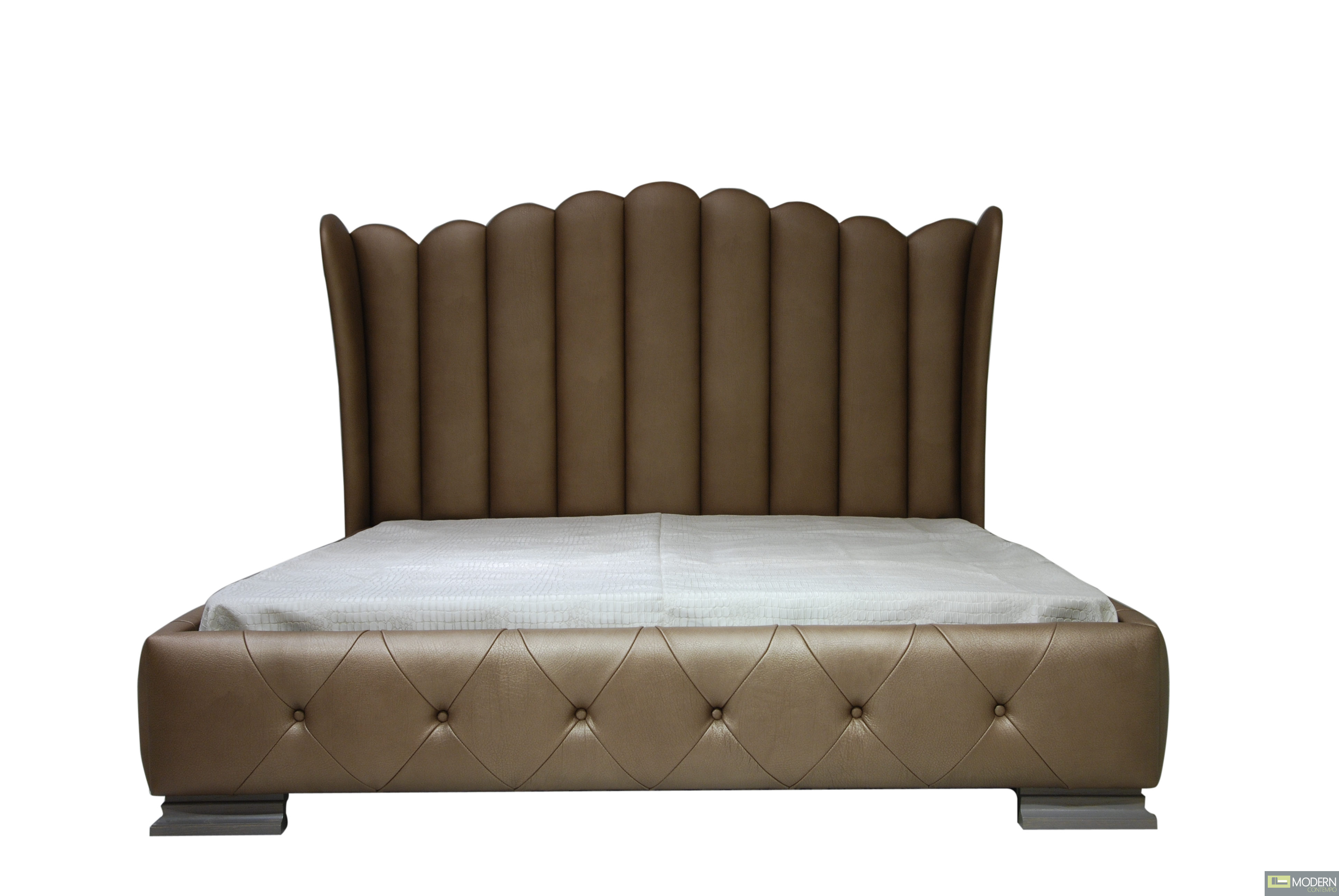 Modern Leather Bed - MCJB12