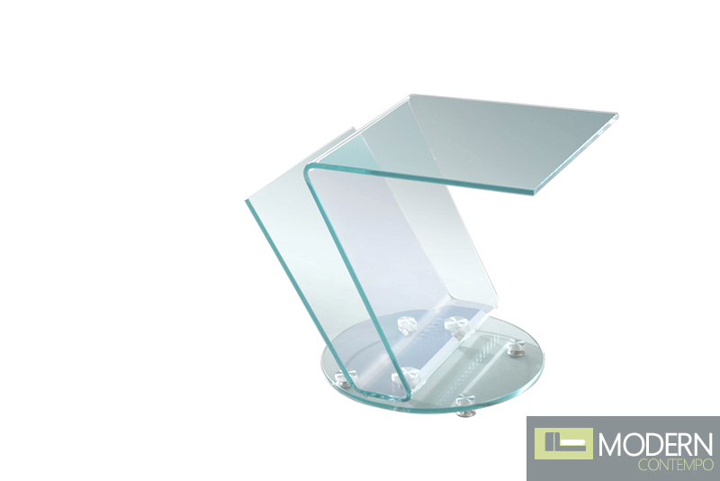 RIO Clear Glass with Chrome and Side Stand with Magazine Rack