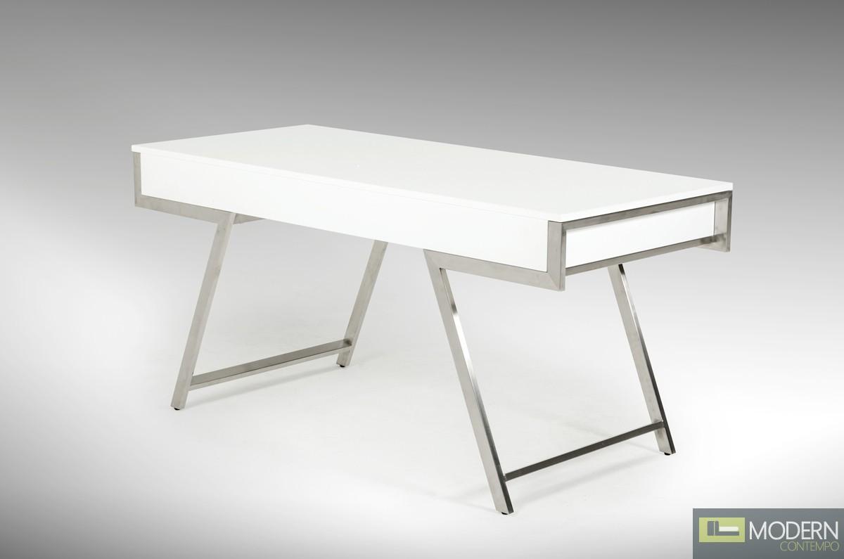 Fayette Modern White Gloss Desk