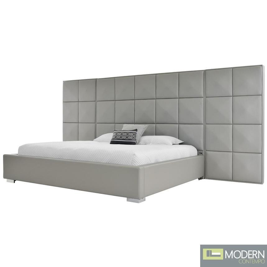 Oxford Suite Gray King Platform Panel Bed