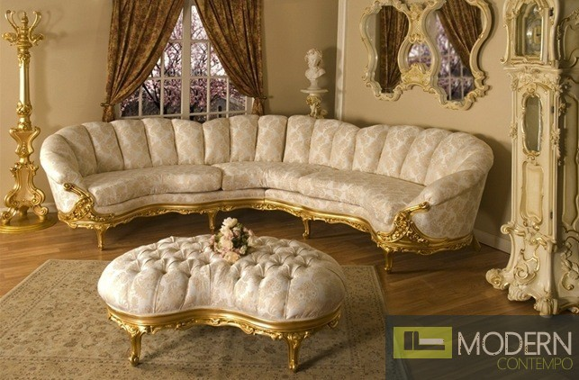 Incroyable Luxury High End Classic Victorian Sectional Living Room Traditional Set  ZP645