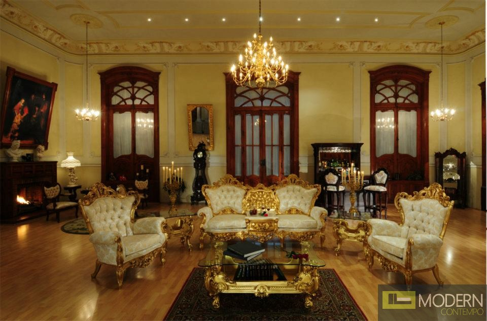 3pc luxury high end classic french provincial living room for High end catalogs for home decor