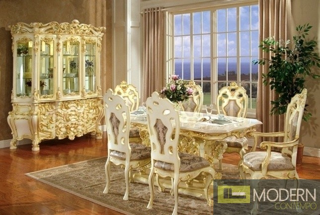 traditional formal victorian highend wood dining room table only