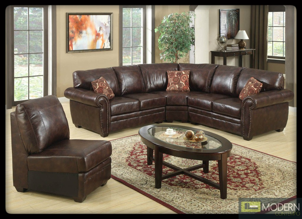 3 Pc Modern Black Bonded Leather Sectional Sofa Living Room Set TBQS725P1