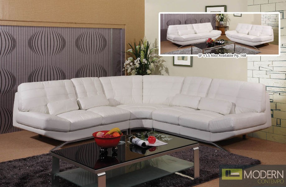 3 Pc Modern Bonded Leather Sectional Sofa Living Room Set TBQS8747P2