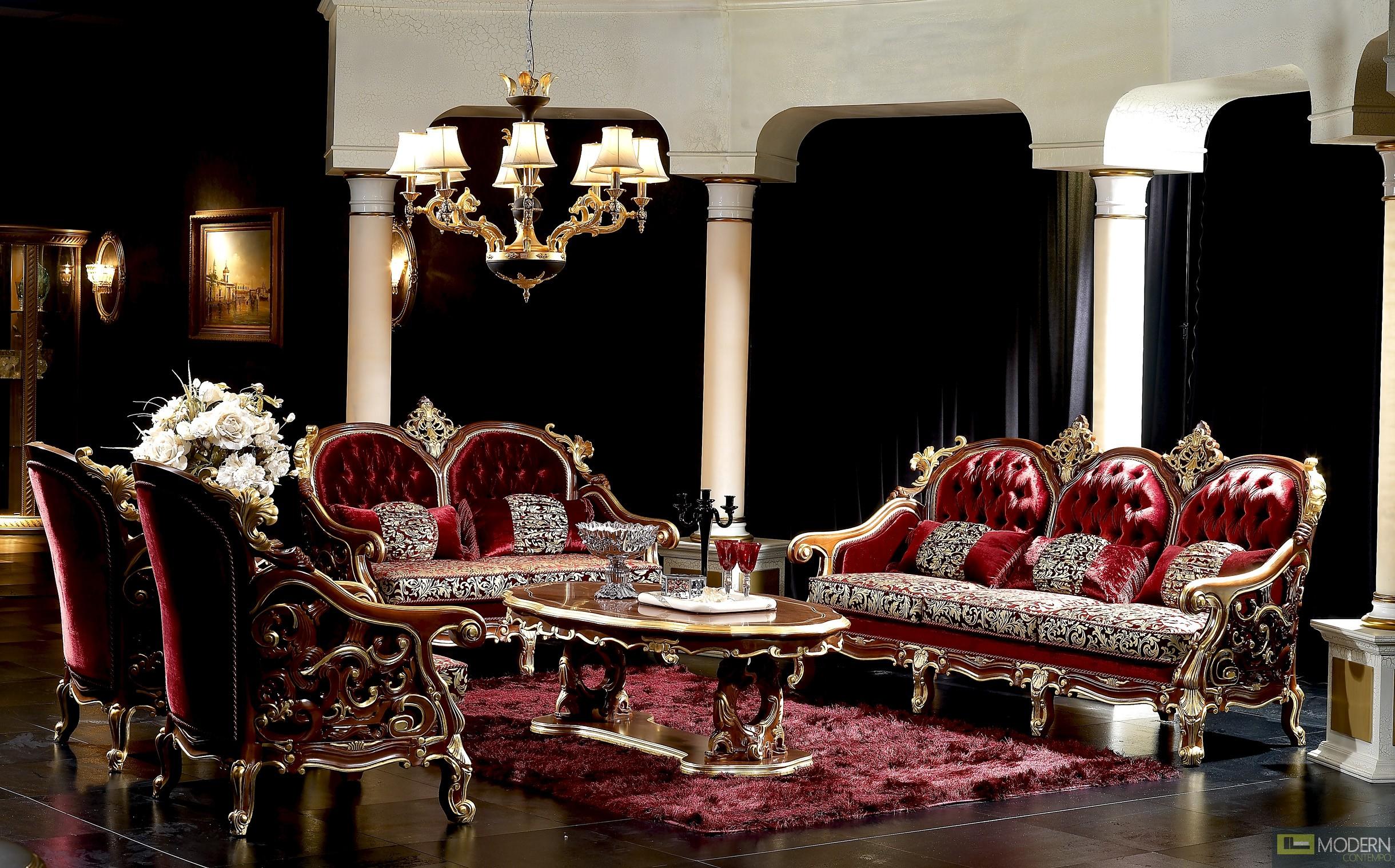 3PC Italian Classics Caesar  Sofa Set.