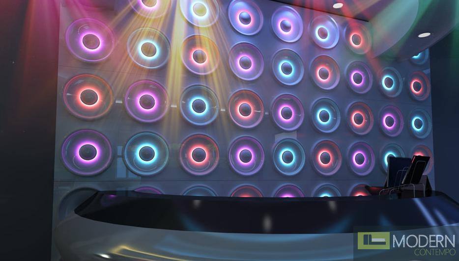 LED LIT 3D PANEL CIRCLE