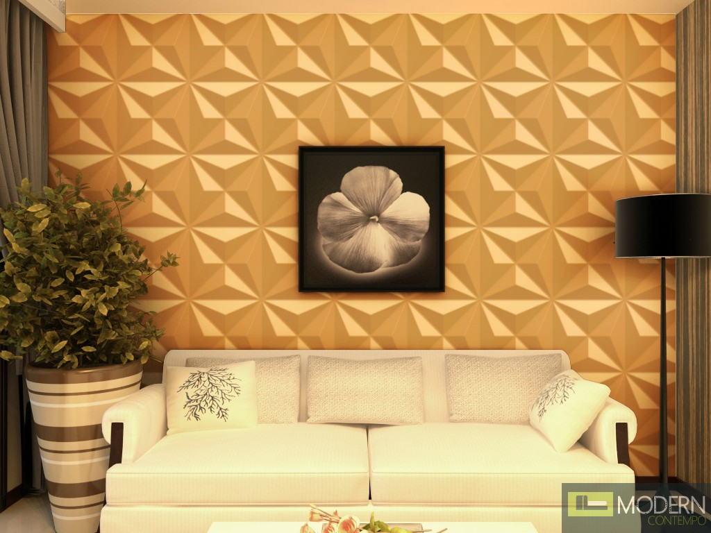 Star Exterior And Interior Glue On Wall 3d Surface Panel