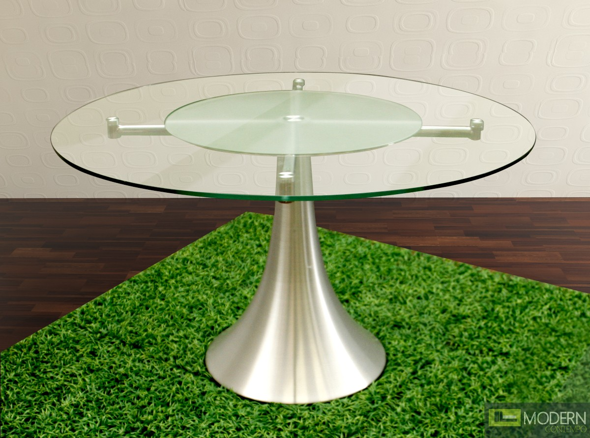 Designer Round Dining Tables: Modern Round Glass Dining Table
