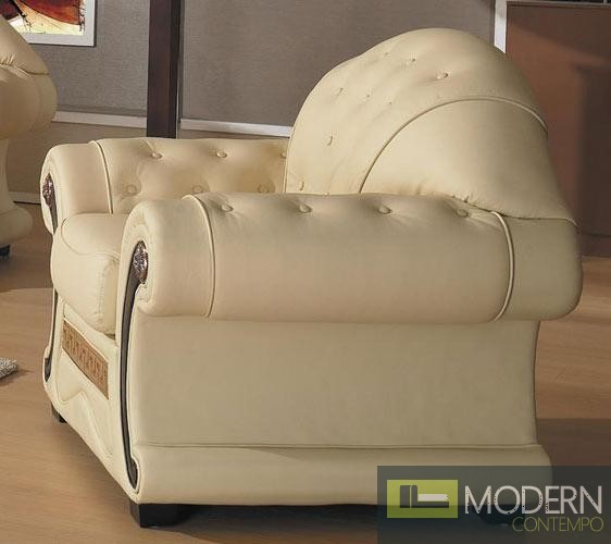 Cleopatra Traditional Leather Sofa Set