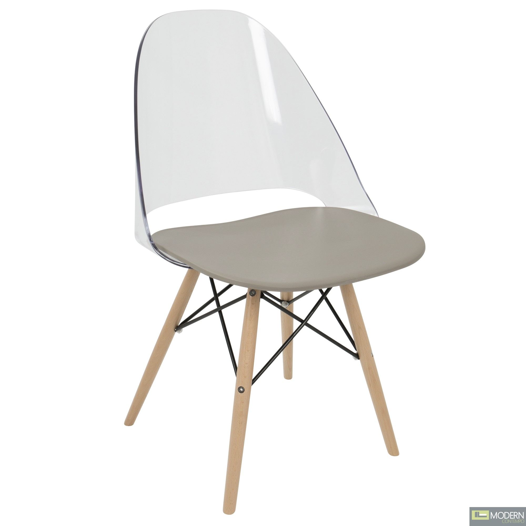 Tunic dining Acrylic Chair (set of 2)