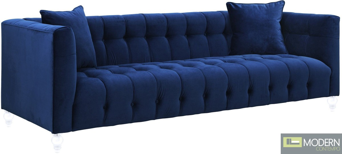 Hestia Navy Velvet Sofa