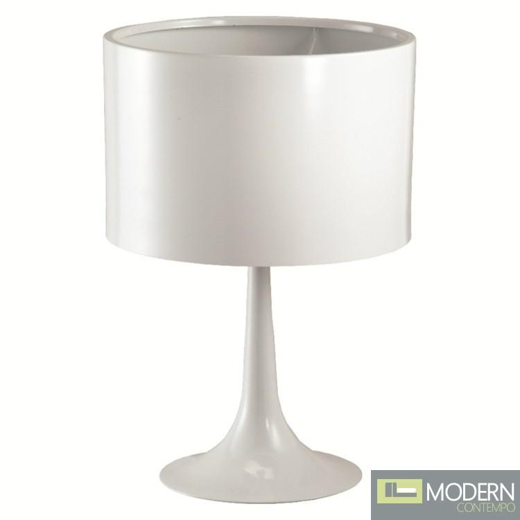 Tulip Table Lamp, White