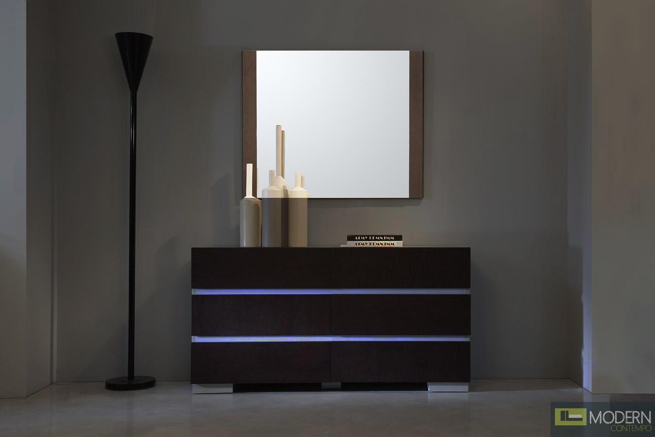 Modrest Anzio Modern Oak Wall Mirror
