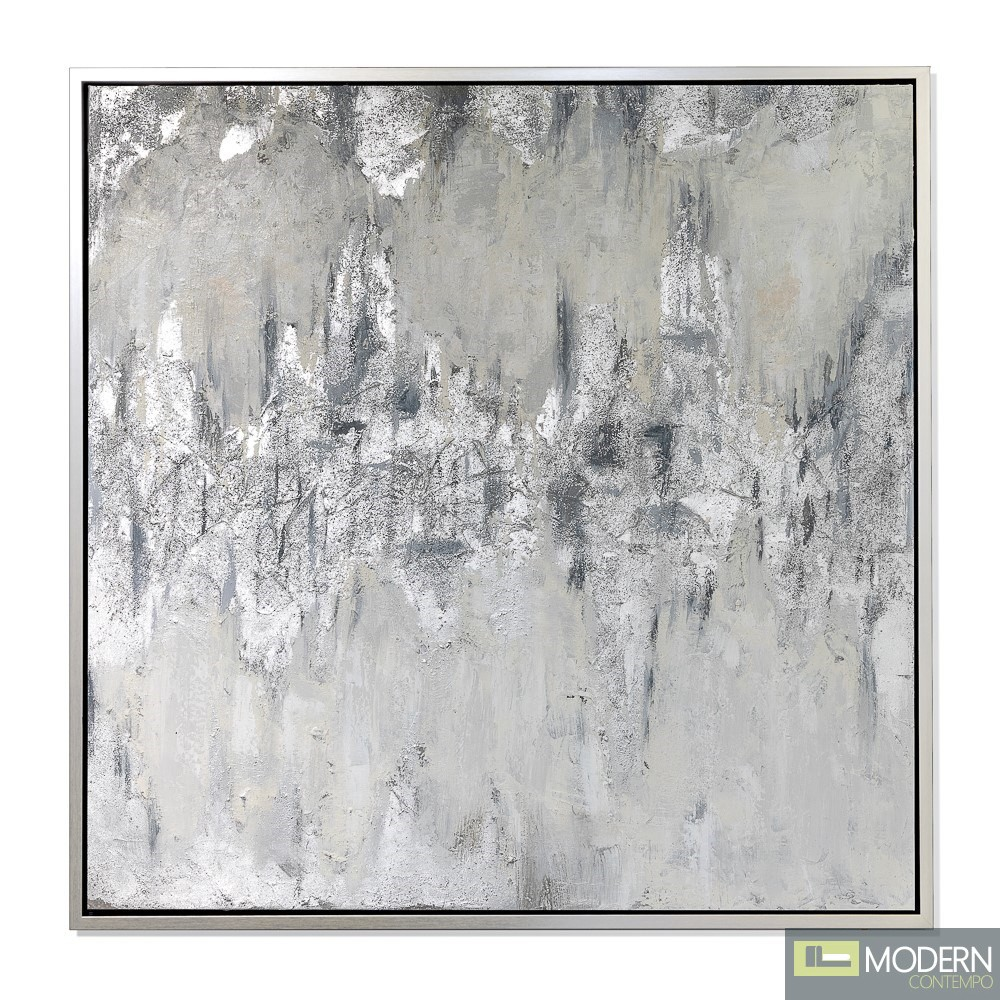 """39"""" Amouria Wall hanging Art Silver"""