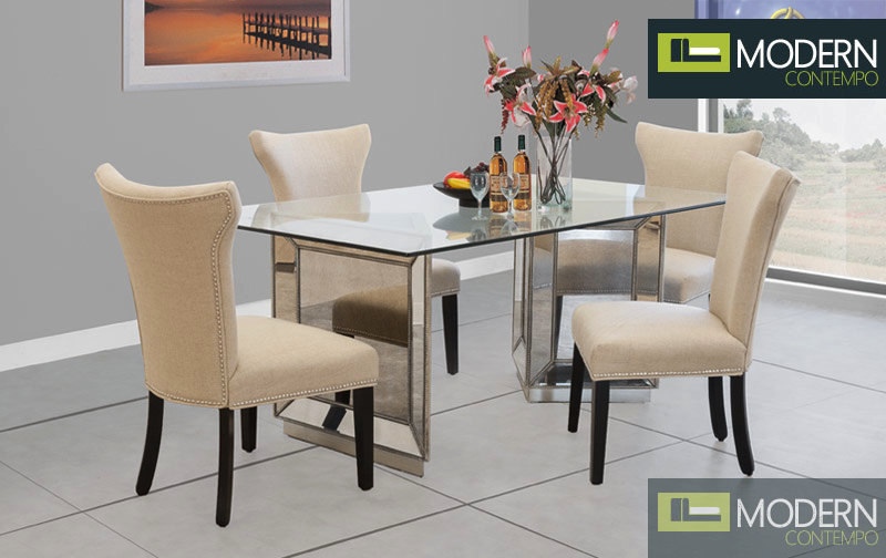 Loiret Mirrored Dining Table