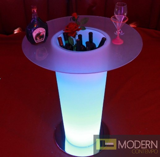 LED Color Changing Bar Table with Ice Bucket MCYK-4097