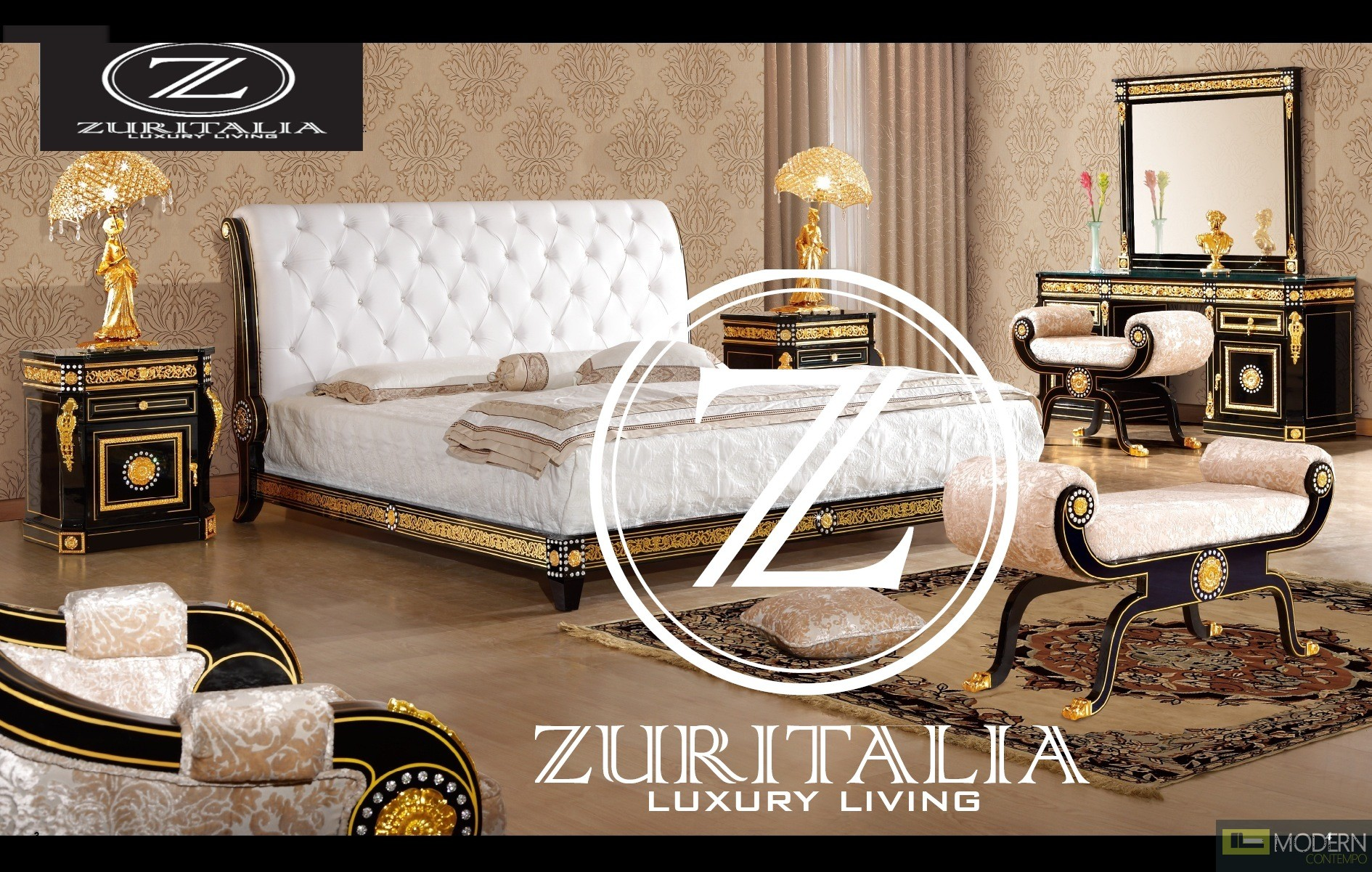 italian bedroom set zuritalia fara royal collection luxury italian style 11904